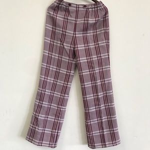 Pants - 1960s vintage plaid wide leg pants